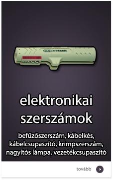 Elektronikai szerszámok: befűzőszerszám, kábelkés, krimpelő, csupaszító