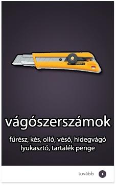 Vágószerszámok: fűrész, kés, olló, véső